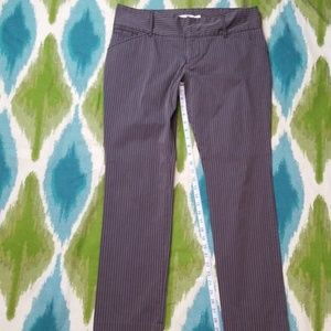 OLD NAVY brown and blue pin stripe pants 12